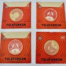 Discos de vinilo: LOTE DE 4 EPS. TRÍO RAISNER. TELEFUNKEN. LICENCIA FESTIVAL HIXPAVOX. AÑOS 50.FRANCIA. EN BUEN ESTADO. Lote 290096543