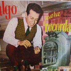 Discos de vinilo: LP HECHO EN VENEZUELA ROBERTO YANES CON LUCIO MILENA Y SU ORQUESTA ALGO PARA RECORDAR ,. Lote 290113753