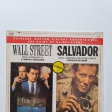 Discos de vinilo: VINILO DE LA BSO DE 2 FILMS DE OLIVER STONE (WALL STREET / SALVADOR) (1987). Lote 290114243