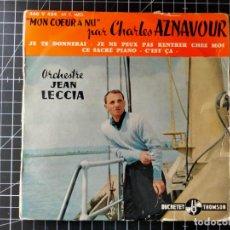 Discos de vinilo: MON AMI AZNAVOUR PAR JEAN LECCIA ET SON ORCHESTRE. Lote 290118773