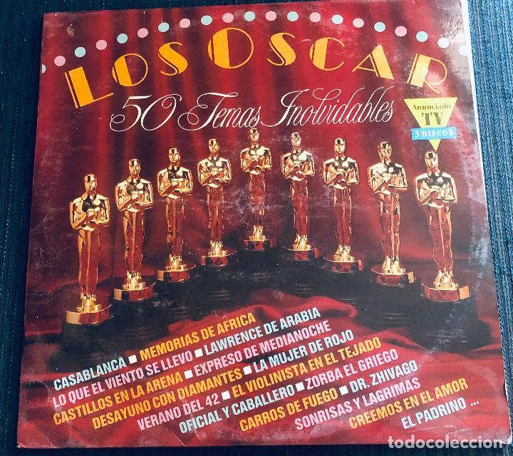 'LOS OSCAR - 50 TEMAS INOLVIDABLES'. 3 LPS VINILO. 1991. BUEN ESTADO. (Música - Discos - LP Vinilo - Bandas Sonoras y Música de Actores )