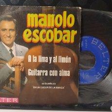 Discos de vinilo: SINGLE/ MANOLO ESCOBAR / *REF.A.18*. Lote 290137193