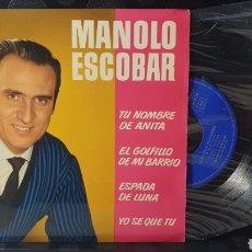 Discos de vinilo: SINGLE/ MANOLO ESCOBAR / *REF.A.18*. Lote 290137538