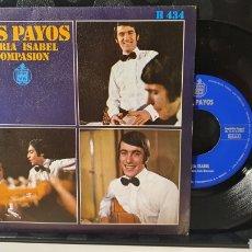 Discos de vinilo: SINGLE/ LOS PAYOS / *REF.A.18*. Lote 290138238