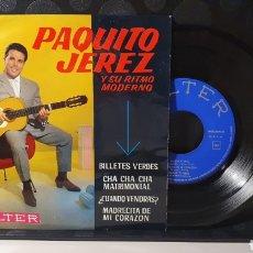 Discos de vinilo: SINGLE/ PAQUITA JEREZ Y SU RITMO MODERNO / *REF.A.18*. Lote 290138563