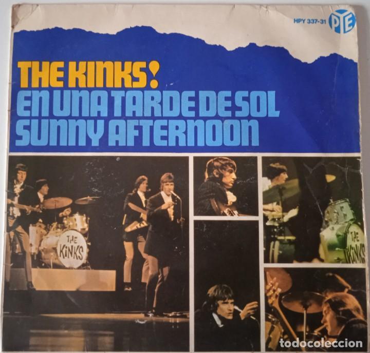 THE KINKS!... EN UNA TARDE DE SOL = SUNNY AFTERNOON. (PYE RECORDS 1966) SPAIN. (Música - Discos de Vinilo - EPs - Pop - Rock Internacional de los 50 y 60)