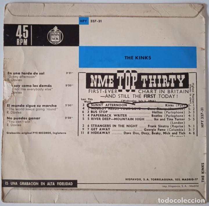 Discos de vinilo: The Kinks!... En Una Tarde De Sol = Sunny Afternoon. (Pye Records 1966) Spain. - Foto 2 - 290141233