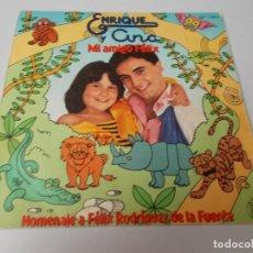 Discos de vinilo: ENRIQUE Y ANA MI AMIGO FÉLIX / GARABATOS. Lote 290189088