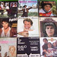 Discos de vinilo: LOTE 9 SINGLES (JOSE Y MANUEL, BACCHELLI, RED DE SAN LUIS, SERGIO FACHELI, MIGUEL GALLARDO,H.STEPHEN. Lote 290448218