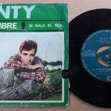 Discos de vinilo: SANTY / SEPTIEMBRE (VIII FESTIVAL DE LA CANCION MEDITERRANEA) / SINGLE 7 PULGADAS. Lote 290501398