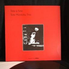 Discos de vinilo: LP TETE MONTOLIU TRIO - TÊTE Á TÊTE (LP, ALBUM, RE), 1982 ESPAÑA, IMPECABLE, COMO NUEVO. Lote 290564983