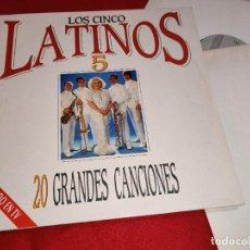 Disques de vinyle: LOS CINCO LATINOS VEINTE GRANDES CANCIONES 2LP 1990 EPIC GATEFOLD SPAIN ESPAÑA EX. Lote 290573503