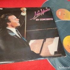 Disques de vinyle: JULIO IGLESIAS EN CONCIERTO 2LP 1983 CBS DIRECTO LIVE ESPAÑA EDICION ESPAÑOLA EX. Lote 290587503