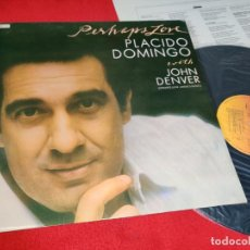 Disques de vinyle: PLACIDO DOMINGO PERHAPS LOVE LP 1981 CBS ESPAÑA SPAIN. Lote 290588848