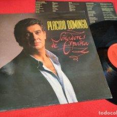Disques de vinyle: PLACIDO DOMINGO SOÑADORES DE ESPAÑA LP 1989 CBS SPAIN ESPAÑA EXCELENTE. Lote 290588978