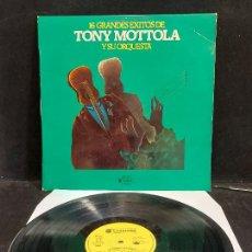 Discos de vinilo: TONY MOTTOLA Y SU ORQUESTA / 16 GRANDES ÉXITOS / LP - ABC COMMAND-1976 / MBC. ***/***. Lote 290936853