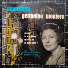 Discos de vinilo: GERMAINE MONTERO.MACADAM. Lote 290954338
