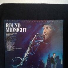 Discos de vinilo: LP HERBIE HANCOCK - ROUND MIDNIGHT - ORIGINAL MOTION PICTURE SOUNDTRACK, 1986 ESPAÑA, EXCELENTE. Lote 290976388