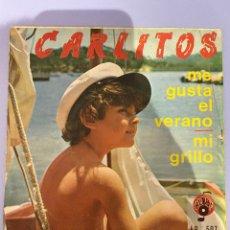 Discos de vinilo: CARLITOS, ME GUSTA EL VERANO. ALBA'S. 1972.. Lote 290982183