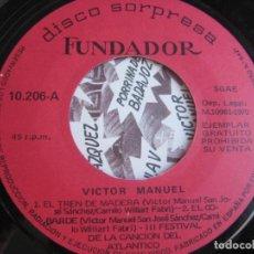 Discos de vinilo: EP SORPRESA FUNDADOR 1970 - NINO BRAVO + VICTOR MANUEL - SOUL POP 70'S - POCO USO. Lote 290997498