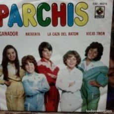 Discos de vinil: PARCHIS -SINGLE -GANADOR -RATATA,LA CAZA DEL RATON ,VIEJO TREN -1981 -MEXICO. Lote 291037998