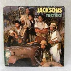 Discos de vinilo: SINGLE JACKSONS - TORTURE - AÑO 1984. Lote 291168838