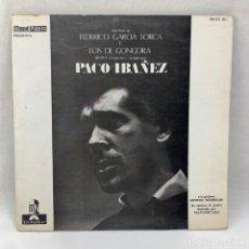 Discos de vinilo: LP - VINILO PACO IBAÑEZ - POEMAS DE FEDERICO GARCÍA LORCA Y LUIS DE GONGORA - ESPAÑA - 1976. Lote 291178753