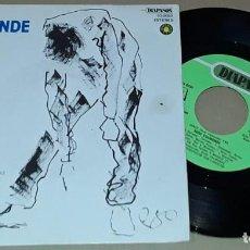Discos de vinilo: SG - SUSO VAAMONDE - LONXE - SUSO VAAMONDE - LONXE / MIÑA NAI. Lote 291206373
