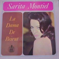 Discos de vinilo: SARITA MONTIEL LP SELLO HISPAVOX MUSI-HALL EDITADO EN ARGENTINA DE LA PELÍCULA LA DAMA DE BEIRUT.... Lote 291210463