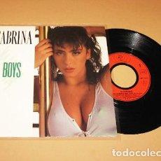 Discos de vinil: SABRINA - BOYS, BOYS, BOYS - SINGLE - 1987. Lote 291352068