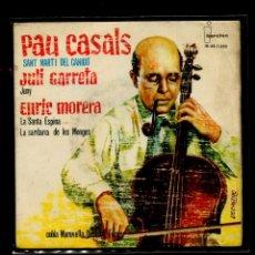 Discos de vinilo: PAU CASALS SANT MARTÍ DEL CANIGÓ. GARRETA JUNY MORERA SANTA ESPINA. ORQUESTA MARAVELLA SARDANES. Lote 291396723