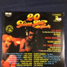 Discos de vinilo: 20 DISCO HITS ORIGINALES 2 LP. Lote 291404873