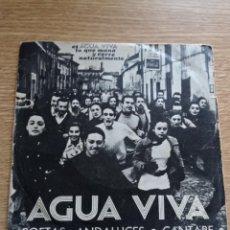 Discos de vinilo: AGUA VIVA: POETAS ANDALUCES Y CANTARE.... Lote 291440063