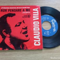 Discos de vinil: CLAUDIO VILLA: PRIMER PREMIO FESTIVAL DE SAN REMO 1967. Lote 291440983