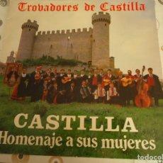 Discos de vinilo: TROVADORES DE CASTILLA, HOMENAJE A SUS MUJERES. Lote 291462248