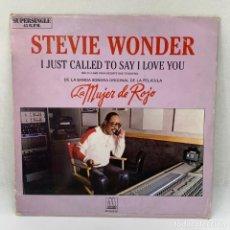 Discos de vinilo: MAXI SINGLE STEVIE WONDER - LA MUJER DE ROJO - ESPAÑA - AÑO 1984. Lote 291481838