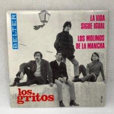 Discos de vinilo: EP LOS GRITOS - LA VIDA SIGUE IGUAL - ESPAÑA - AÑO 1968. Lote 291487168