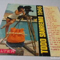 Discos de vinilo: TODO SAN REMO 1966. Lote 291521778