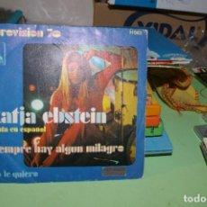 Discos de vinilo: KATJA EBSTEIN CANTA EN ESPAÑOL SIEMPRE HAY ALGUN MIOLAGRO SP LIBERTY EUROVISION 70. Lote 291527378