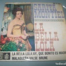 Discos de vinilo: SARITA MONTIEL - LA BELLA LOLA - EP DE HISPAVOX - BUEN ESTADO - 1962 CON 4 TEMAS. Lote 291532618