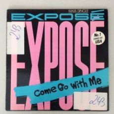 Discos de vinilo: EXPOSÉ. COME GO WITH ME.. Lote 291576663