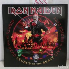 Discos de vinilo: IRON MAIDEN-- LEGACY OF THE BEAST LIVE IN MEXICO CITY- 2020- PARLOPHONE-MADE IN THE E.U. -3 LP-. Lote 291595853