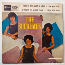 Discos de vinilo: SUPREMES- STOP! IN THE NAME OF LOVE- SPAIN EP 1965- EN BUEN ESTADO.. Lote 291601543