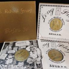 Discos de vinilo: THE ROLLING STONES BASEL 90, BOX 3 LP'S, LUXEMBURGO NO OFICIAL, EDICIÓN LIMITADA.. Lote 291844828