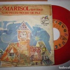 Discos de vinilo: MARISOL DISCO DE COLOR ROJO LOS PECES , NOCHE DE PAZ. Lote 291893453