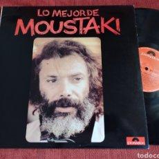 Discos de vinilo: LO MEJOR DE MOUSTAKI. Lote 291904018
