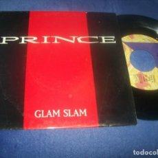 Discos de vinilo: PRINCE – GLAM SLAM - WEA DE 1988 - PROMOCIONAL - ED, ESPECIAL COMENTARIOS SOBRE EL SINGLE GIRA ETC. Lote 292020428