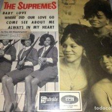 Discos de vinilo: THE SUPREMES-BABY LOVE-COME SEE ABOUT ME-ORIGINAL ESPAÑOL 1964. Lote 292082983