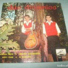 Discos de vinilo: DUO DINAMICO - CANCION TRISTE + 3 - EP DE 4 TEMAS - LA VOZ DE SU AMO DE 1963. Lote 292091748