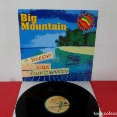 Discos de vinilo: BIG MOUNTAIN - REGGAE INNA SUMMERTIME + PEACEFUL RVOLUTION -MAXI SINGLE- QM 1994 SPAIN M-18113. Lote 292094963